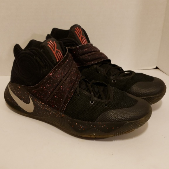 new styles b4ab2 17bfa Nike KYRIE IRVING 2 Black/Red Speckled Basketball